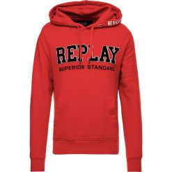 Replay Bluza z kapturem ruby red. Czerwone bejsbolówki męskie Replay, l, z bawełny, z kapturem. Za 369,00 zł.