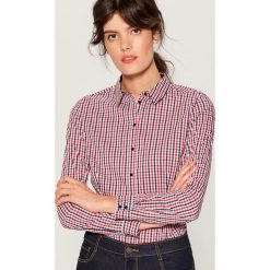 Koszula z body - Wielobarwn. Czerwone koszule damskie marki Mohito, z bawełny. Za 89,99 zł.
