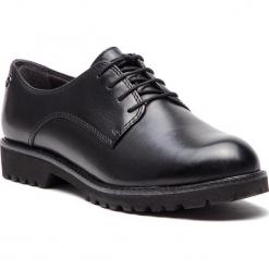 Oxfordy TAMARIS - 1-23725-21 Black Leather 003. Czarne creepersy damskie Tamaris, ze skóry. Za 289,90 zł.