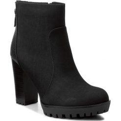 Botki JENNY FAIRY - WFA1014A-1 Czarny. Czarne buty zimowe damskie Jenny Fairy, ze skóry ekologicznej, na obcasie. Za 139,99 zł.