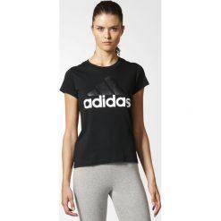 KOSZULKA  ESS LI SLI TEE. Białe bluzki z odkrytymi ramionami marki Adidas, z bawełny, z długim rękawem, długie. Za 59,99 zł.