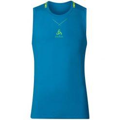 Odlo Koszulka męska Ceramicool seamless Singlet niebieska r. XL. Niebieskie koszulki sportowe męskie marki Odlo, m. Za 87,78 zł.