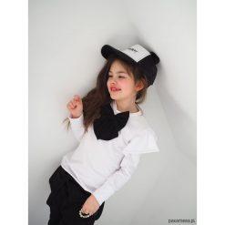 Bluzki dziewczęce: Bluzka dziecięca white falbanka