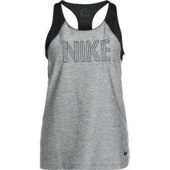 Nike Performance TANK Koszulka sportowa carbon heather/black/black. Brązowe topy sportowe damskie marki N/A, w kolorowe wzory. W wyprzedaży za 126,65 zł.