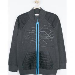Bluza. Czarne bluzy chłopięce rozpinane TECHNOLOGY OF TOMORROW, z aplikacjami, z bawełny, z długim rękawem, długie. Za 99,90 zł.