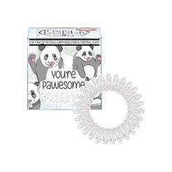 Invisibobble You're Pawesome - mleczna gumka do włosów 3szt. Białe ozdoby do włosów INVISIBOBBLE. Za 9,52 zł.