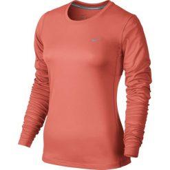 Koszulka do biegania damska NIKE MILER LONG SLEEVE / 686904-680 - NIKE MILER LONGSLEEVE. Szare topy sportowe damskie marki Nike, z materiału. Za 79,00 zł.