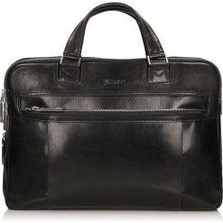 Czarna torba męska. Czarne torby na laptopa Kazar, w paski, ze skóry. Za 949,00 zł.
