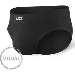 Slipy SAXX Undercover Black. Czerwone slipy męskie marki Astratex, w koronkowe wzory, z wiskozy. Za 82,99 zł.