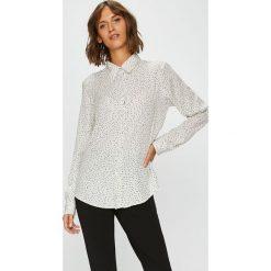 Answear - Koszula. Szare koszule damskie ANSWEAR, l, z poliesteru, casualowe, z klasycznym kołnierzykiem, z długim rękawem. W wyprzedaży za 69,90 zł.