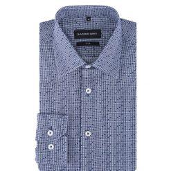 Koszula SIMONE slim KDWS000308. Niebieskie koszule męskie na spinki marki Giacomo Conti, m, w kratkę, z bawełny, z klasycznym kołnierzykiem. Za 259,00 zł.