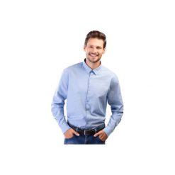 Koszula męska z mankietami, z kołnierzykiem casual tkanina. Szare koszule męskie marki TXM, z dresówki. Za 39,99 zł.