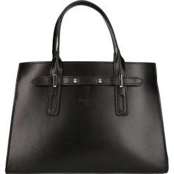 """Torebki klasyczne damskie: Skórzana torebka """"Mabillion"""" w kolorze czarnym – 30 x 23 x 12,5 cm"""