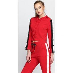 Bluzy damskie: Czerwona Bluza Cryptic