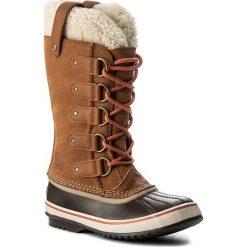 Śniegowce SOREL - Joan Of Arctic Shearling NL2393 Carmel/Nectar 273. Czarne buty zimowe damskie marki Sorel, z materiału. W wyprzedaży za 449,00 zł.