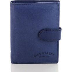 Portfele męskie: Skórzany portfel męski Bag Street Niebieski