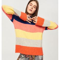 Sweter z domieszką alpaki - Niebieski. Niebieskie swetry klasyczne damskie Reserved, l. Za 79,99 zł.