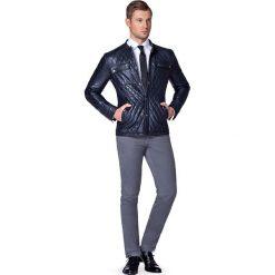 Kurtka Skórzana Czarna Scott. Czarne kurtki męskie pikowane marki LANCERTO, m, ze skóry, eleganckie. W wyprzedaży za 499,90 zł.