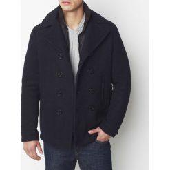 Płaszcze przejściowe męskie: Wełniany płaszcz zimowy, półdługi