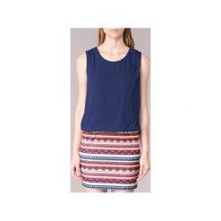 Sukienki krótkie Moony Mood  IEVELI. Niebieskie sukienki hiszpanki Moony Mood, l, z krótkim rękawem, mini. Za 129,00 zł.
