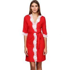 Szlafroki kimona damskie: Szlafrok w kolorze czerwonym