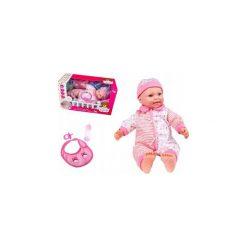 Lalka Interaktywna Baby Bobas 46cm + Akcesoria Y34. Szare śliniaki ElektroStator, z materiału. Za 59,00 zł.
