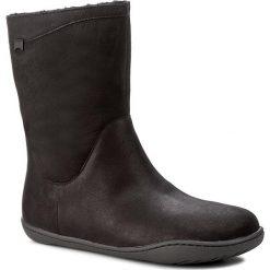 Botki CAMPER - Peu Cami K400048-006 Black. Czarne buty zimowe damskie Camper, z nubiku. W wyprzedaży za 459,00 zł.