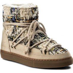 Buty INUIKII - Sneaker English 20210  Tartan Cream. Brązowe buty zimowe damskie Inuikii, z materiału. W wyprzedaży za 719,00 zł.