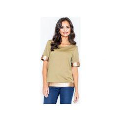 Bluzka M421 Oliwka. Zielone bluzki damskie FIGL, l, z krótkim rękawem. Za 119,00 zł.