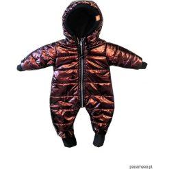 Kombinezon zimowy miedziany - ściągacze. Brązowe kombinezony niemowlęce Pakamera, na zimę, z polaru. Za 219,00 zł.