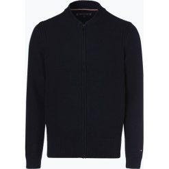Tommy Hilfiger - Kardigan męski, niebieski. Czarne swetry rozpinane męskie marki TOMMY HILFIGER, l, z dzianiny. Za 599,95 zł.