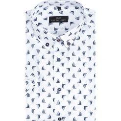 Koszula SIMONE KKBR000011. Brązowe koszule męskie na spinki marki QUECHUA, m, z elastanu, z krótkim rękawem. Za 149,00 zł.