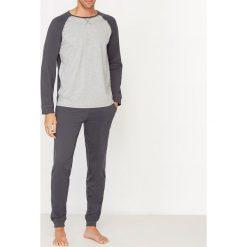 Piżamy męskie: Piżama dwukolorowa, z długim rękawem