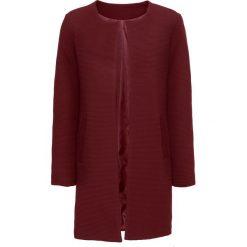 Płaszcze damskie: Płaszcz w strukturalny wzór bonprix bordowy