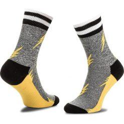 Skarpety Wysokie Unisex HAPPY SOCKS - ATFLA27-7000 Szary Żółty. Szare skarpetki męskie marki Happy Socks, z bawełny. Za 47,90 zł.