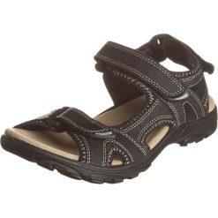 Sandały męskie: Skórzane sandały w kolorze czarnym