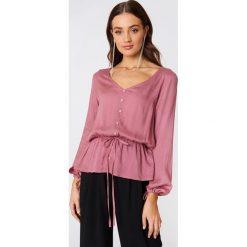 Bluzki damskie: Rut&Circle Bluzka z guzikami Beline - Pink