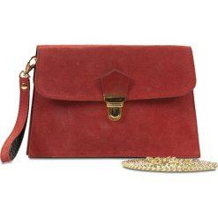 """Puzderka: Skórzana kopertówka """"Brooke"""" w kolorze czerwonym – 23 x 15 x 2 cm"""