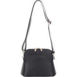 Torebki klasyczne damskie: Skórzana torebka w kolorze czarnym – 23 x 12 x 7 cm