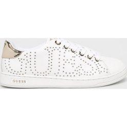 Guess Jeans - Buty. Szare buty sportowe damskie marki Guess Jeans, z aplikacjami, z jeansu. Za 459,90 zł.