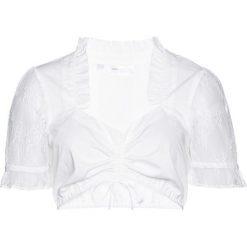 Bluzka ludowa bonprix biały. Szare bluzki koronkowe marki Born2be, m. Za 109,99 zł.