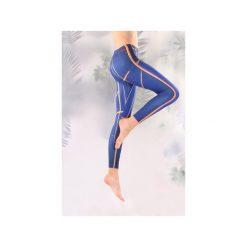 Legginsy granatowe. Niebieskie legginsy Manifesto art clothes, l, z tkaniny. Za 119,00 zł.