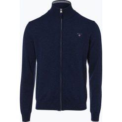 Gant - Kardigan męski, niebieski. Niebieskie swetry rozpinane męskie GANT, m, z dzianiny, klasyczne, z klasycznym kołnierzykiem. Za 589,95 zł.