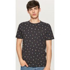 T-shirty męskie: T-shirt z mikroprintem – Szary