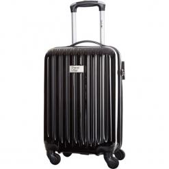Walizka w kolorze czarnym - 34 l. Czarne walizki Bagstone & Travel One, z materiału. W wyprzedaży za 199,95 zł.