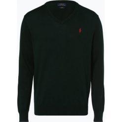 Polo Ralph Lauren - Sweter męski, zielony. Szare swetry klasyczne męskie marki Polo Ralph Lauren, z bawełny. Za 449,95 zł.