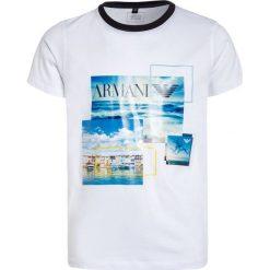 T-shirty chłopięce z nadrukiem: Armani Junior Tshirt z nadrukiem bianco