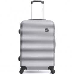 """Walizka """"London"""" w kolorze srebrnym - 35 x 50 x 22 cm. Szare walizki marki Hero & BlueStar, z materiału. W wyprzedaży za 173,95 zł."""