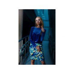 Sukienka Velvet Diamond. Niebieskie sukienki dzianinowe marki Fevey, na imprezę, s, z długim rękawem. Za 320,00 zł.