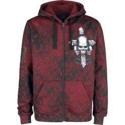 Rock Rebel by EMP Mask Of Sanity Bluza z kapturem rozpinana bordowy. Czerwone bluzy męskie rozpinane marki KALENJI, m, z elastanu, z długim rękawem, długie. Za 184,90 zł.